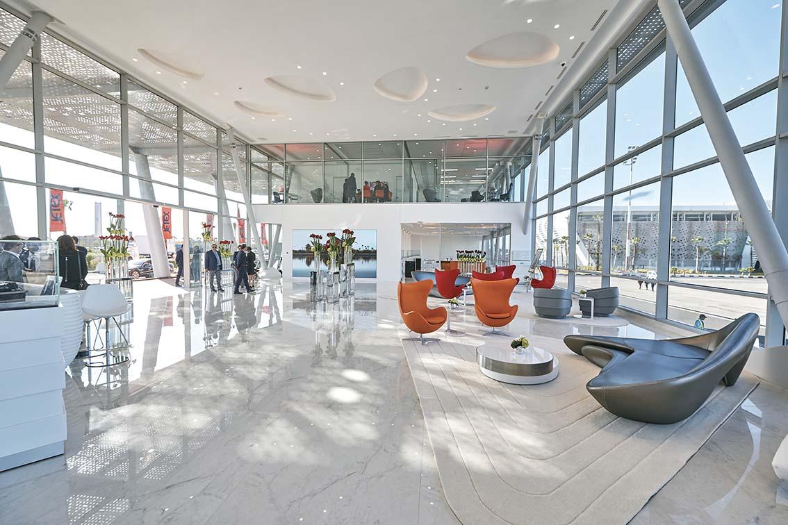 Le terminal Jetex à l'aéroport de Marrakech:  1.000 m2 de luxe le plus exclusif